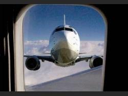 Веселый вид из окна самолета