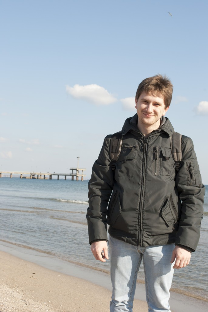 На море в Бургасе, Болгария.