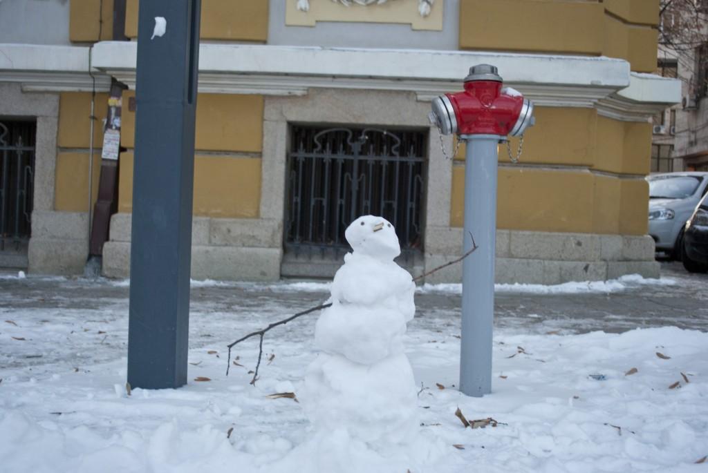 Снеговик на Александровска, Бургас