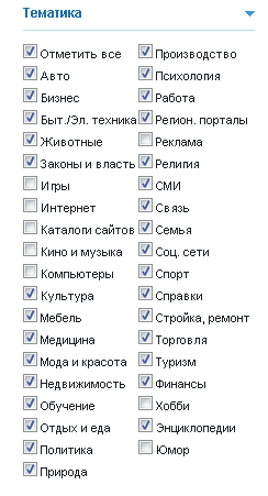 Тематика сайтов для покупки