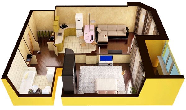Делаем из однокомнатной квартиры двухкомнатную