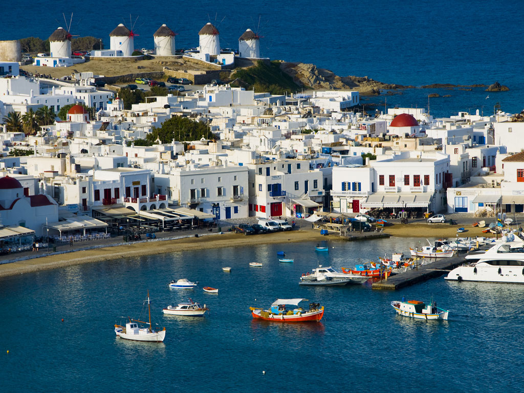 Курорты на островах Миконос и Кипид