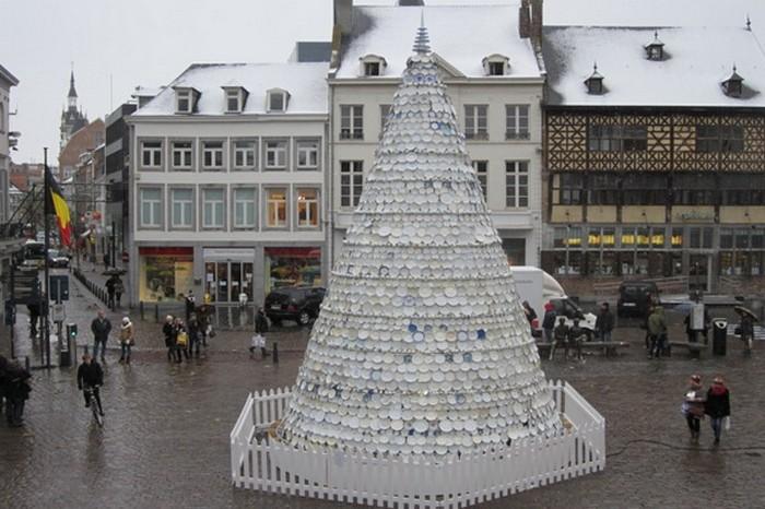 Необычные рождественские деревья Бельгии